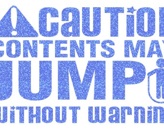 CAution Jump Rope Iron On Decal