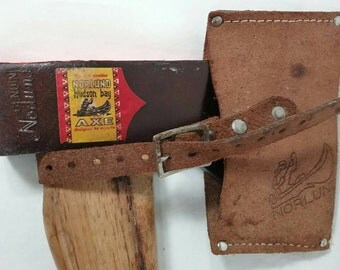 Vintage genuine norlund hudson bay axe hatchet new with label and sheath