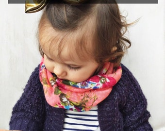 Bright Pink baby tube scarf snood