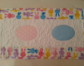Easter Eggs Quilted Table Runner