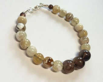 Marbled earth beaded bracelet