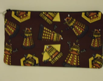 Doctor Who Steampunk Daleks Pencil Pouch Clutch Purse