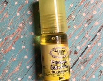 Forever sunshine roller bottle perfume roller bottle travel frgrance oil vegan fragrance oil