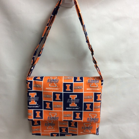 The Touchdown: University of Illinois Messenger Bag Licensed Fabric