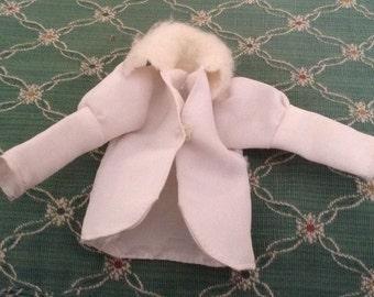 Vintage White Faux Fur Doll Coat