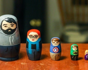 CUSTOM Russian Nesting Dolls (set of 5 or less)