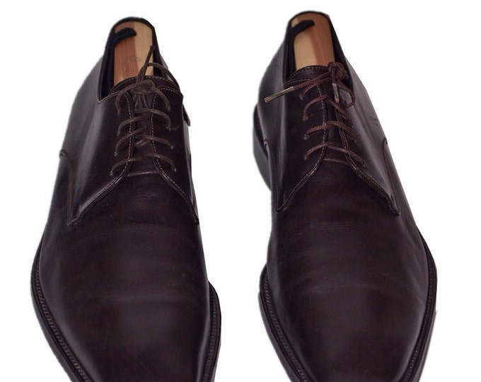 Ermenegilda Zegna AUTHENTIC Vintage Estate Brown Lace up Loafers Size 9.5D