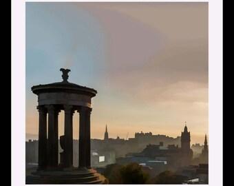 Calton Hill at Sunset Edinburgh Giclee print