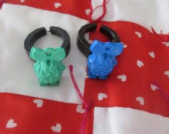 Rat Fink Rings Pair of Vintage Toy Rings