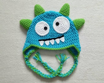 READY TO SHIP - Crochet Monster Hat - Toddlers/Children