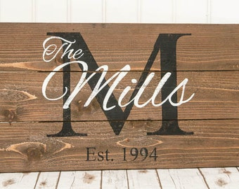 Family Name Signs - Wooden Signs - Custom Wood Signs - Personalized Signs - Name Signs - Established Signs - Custom Wooden Signs