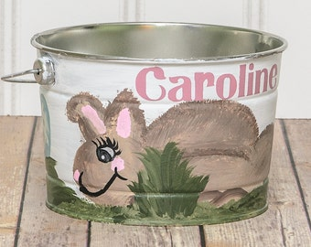 hand painted easter baskets – Etsy