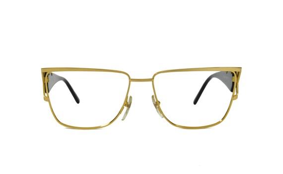 European Designer Eyeglass Frames : Roberto Capucci 620 Gold Metal Large Dramatic by ...