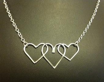 Handmade Tripple Heart Necklace