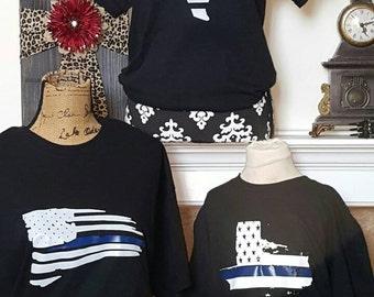 Police officer fundraiser tshirts
