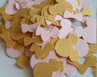 Pink and Gold Minnie Mouse, First Birthday Confetti, Minnie Mouse Birthday, Pink and Gold Birthday, Pink and Gold Baby Shower, Pink and Gold