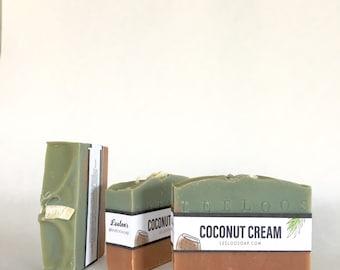 Coconut cream soap. Made with coconut milk