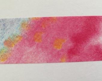 WashiTape watercolor, GeelRoze, Washi, Large, 1, 5 cm wide, 10 m long