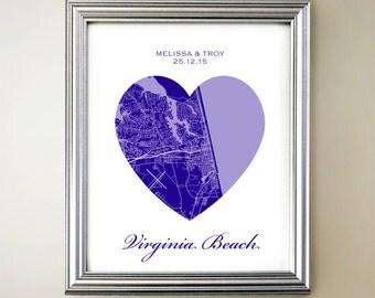 Virginia Beach Heart Map