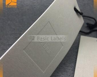 500 embossed hang tags, custom hang tags, Embossed Tags