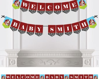 Farm Animals - Bunting Banner - Personalized Baby Shower or Birthday Party Decorations