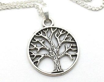 Tree of Life Necklace - Antique Silver Jewelry - NEW