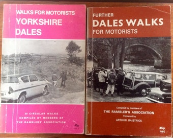 "Vintage Books of ""Yorkshire Dales Walks For Motorists"" by The Rambler's Association. 1970's"