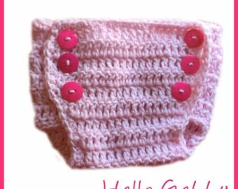 Crochet Diaper Cover Pattern - Baby Crochet Pattern, Make Your Own Photo Prop, Diaper Cover Tutorial , Easy Crochet Patterns for Babies