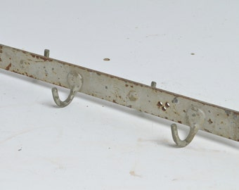 Vintage Antique Industrial Machine Age Factory Iron Hooks ( no# 42 )
