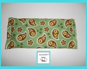 SALE, Flax Seed Eye Pillow, Lavender, Yoga Eye Pillow, Savasana Eye Pillow, Eye Compress, Soothing Eye Pillow, Paisley