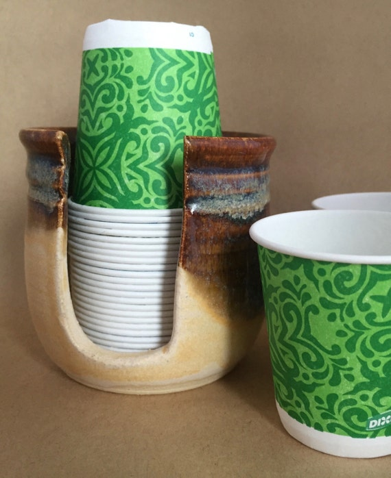 Ceramic Bathroom Cup Holder Disposable Cup By BTRceramics