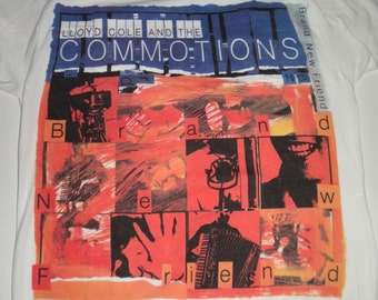 Vintage 1985 Lloyd Cole and the Commotions T Shirt Indie Pop Rock Tee