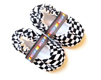 NASCAR baby girl racing shoes- Mary Jane crib shoes slippers booties mocs- newborn infant baby toddler shoes- Baby shower gift- birthday