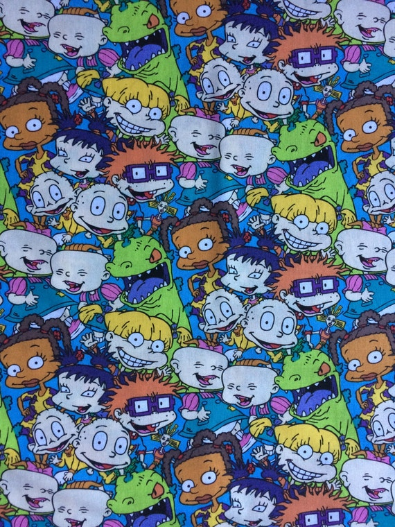 Fabric by the yard rugrats cotton for Children s clothing fabric by the yard