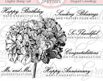 Elegant Greetings Digital Stamp Set