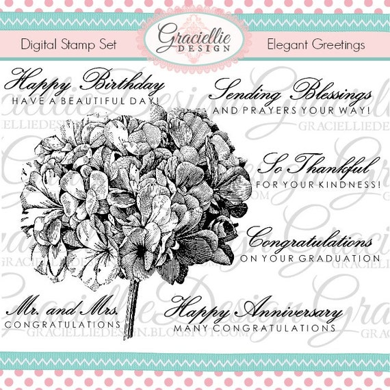 Elegant Greetings Digital Stamp Set