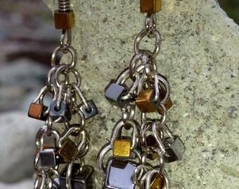Metallic Shine Chandelier Earrings