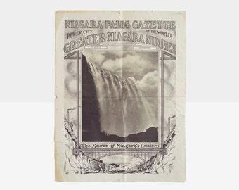 niagara falls gazette newspaper, antique newspaper, niagara falls memorabilia, antique paper, gazette, niagara falls gazette