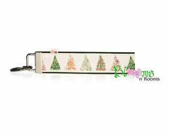 Christmas Trees keychain key fob wristlet