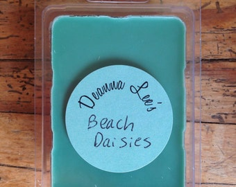 Beach daisies soy wax melts, scented soy tart, soy wax melts, candle melts, wax tarts, beach daisies scented wax melts