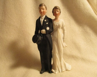 Vintage German porcelain wedding cake topper