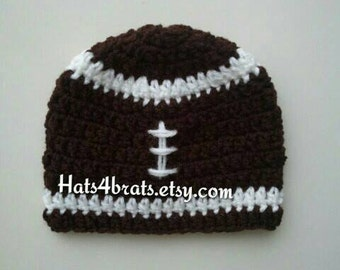 Baby Crochet Football Hat, Crochet Football Hat, Newborn Football Hat, Football Beanie Hat, Infant Football Hat, Baby Photo Prop, Boys Gift