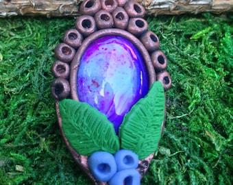 Poly Purple Lace Pendant
