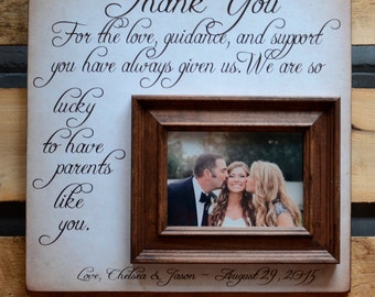 Parents Wedding Gift, Thank You Gift For Parents, Wedding Gift Parents, Personalized Picture Frame 16x16