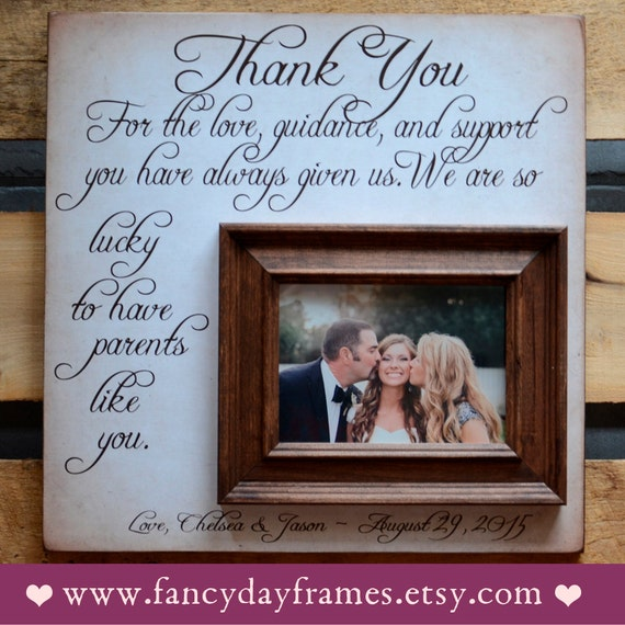 Meaningful Wedding Gift For Parents : Parents Wedding Gift, Thank You Gift For Parents, Wedding Gift Parents ...