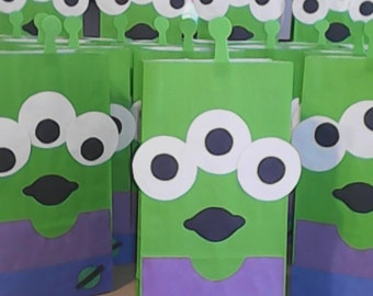toy story alien favor bags (set of 10)