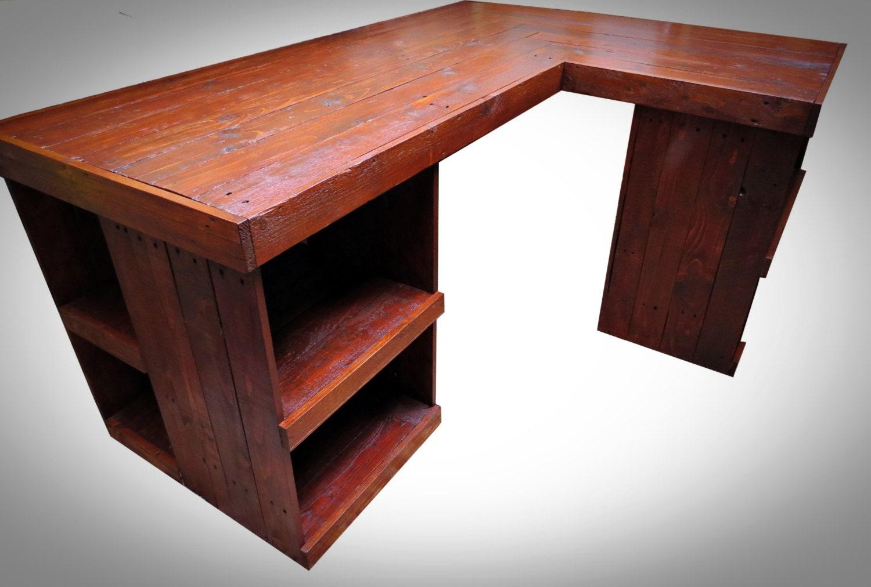 Handmade Recycled pallet Corner Desk Right Hand Corner