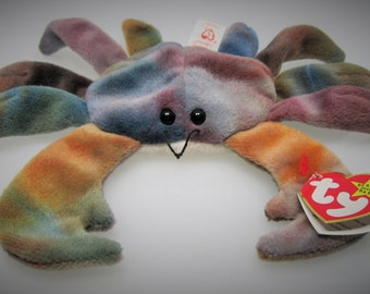 Beanie Baby Claude the Crab - Style 4083 - P.V.C Pellets