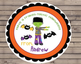Personalized Fraken-Tastic Halloween Tags/Stickers/Labels