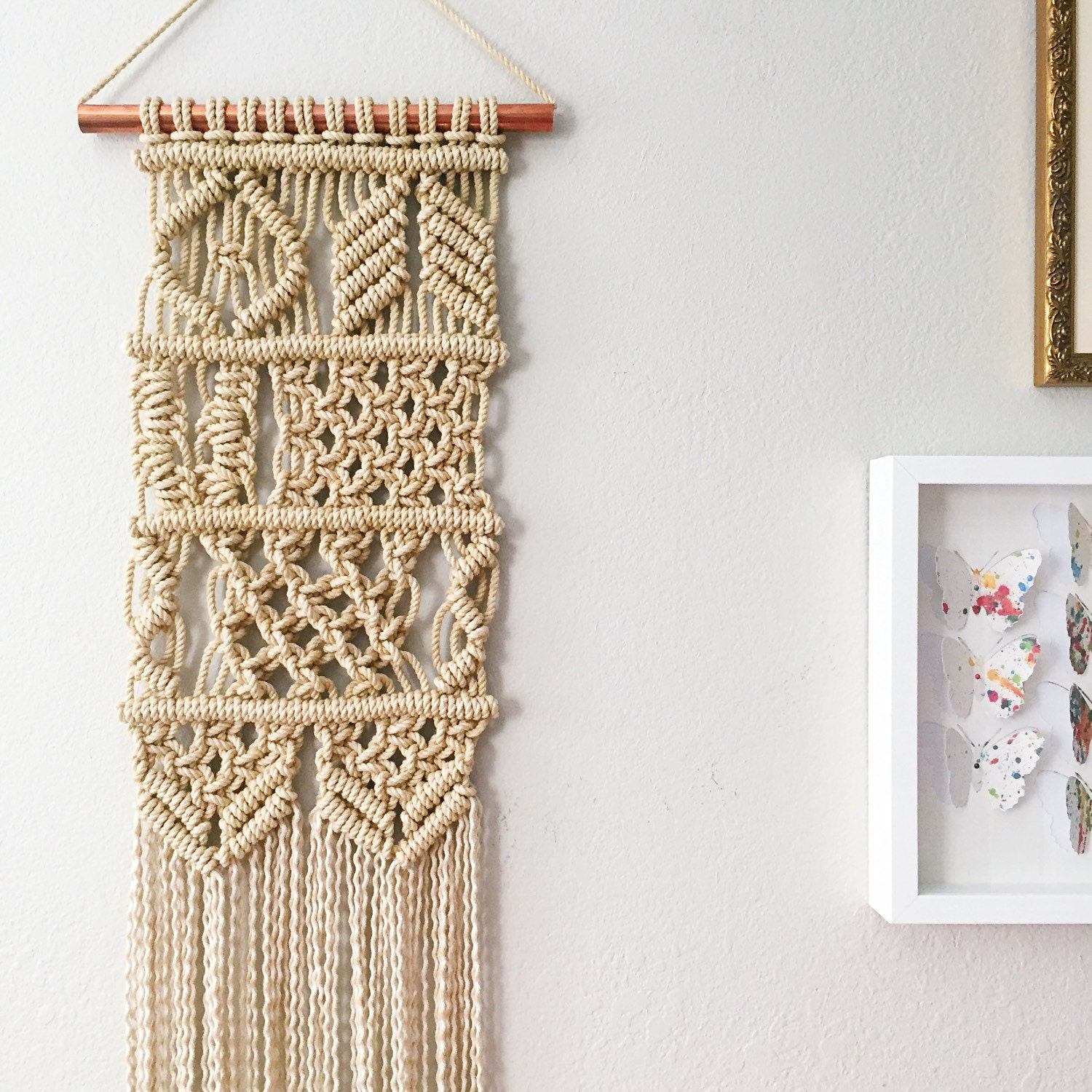 macrame wall hanging kit macrame kit macrame wall hanging kit diy gift kit by 6306